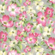 Moda - Sakura Park - 7184 - Pink Cherry Blossom on Grey - 33480-18 - Cotton Fabric